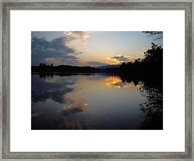 Calm Sunset Framed Print by Vilas Malankar
