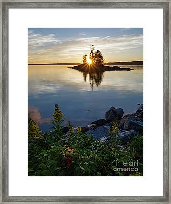Calm Water At Sunset, Harpswell, Maine -99056-99058 Framed Print