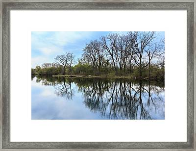 Calm Waters At Wayne Woods Framed Print