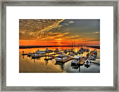 Calm Waters Bull River Marina Tybee Island Savannah Georgia Framed Print