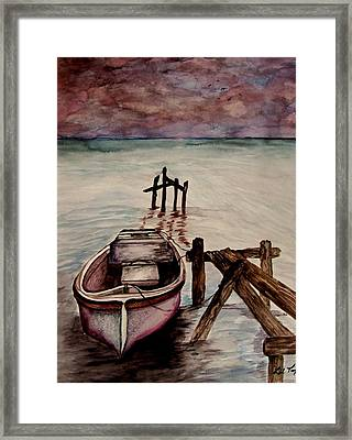 Framed Print featuring the painting Calm Waters by Lil Taylor