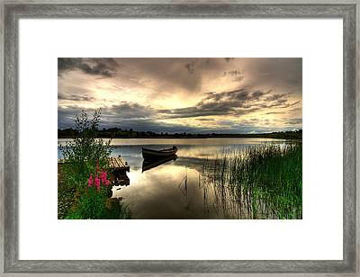 Calm Waters On Lough Erne Framed Print by Kim Shatwell-Irishphotographer