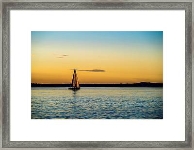Calm Waters Framed Print by TL  Mair