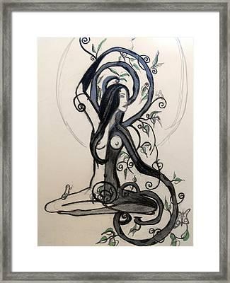 Calmed Framed Print by Cat Jackson