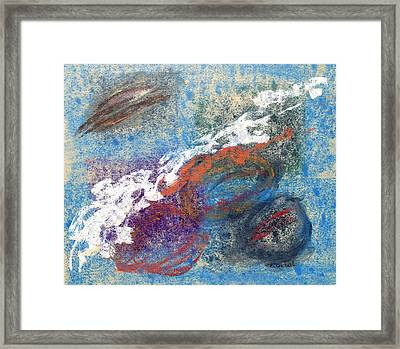 Calming Abstract 2 Of 5 Framed Print by Beth Maddox