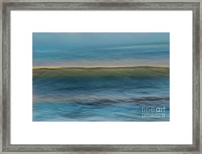 Calming Blue Framed Print