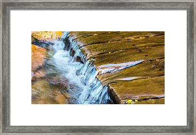 Calming Cascade Framed Print by Rhys Arithson