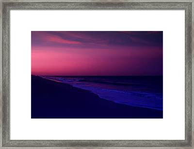 Calming Conclusion - Jersey Shore Framed Print