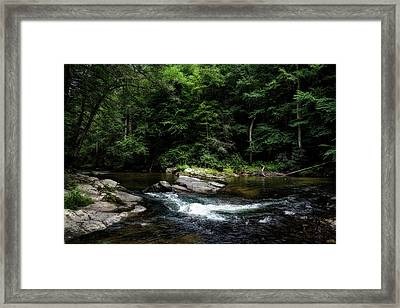 Calming Rapids Framed Print