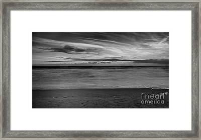 Framed Print featuring the photograph Calming Seas by Linda Lees