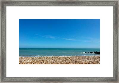 Calming Seaside View Framed Print