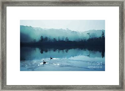 Calming Water Framed Print by Gina Signore