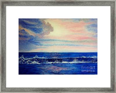 Calming Wave Framed Print