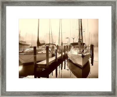 Framed Print featuring the photograph Calmly Docked by Brian Wallace