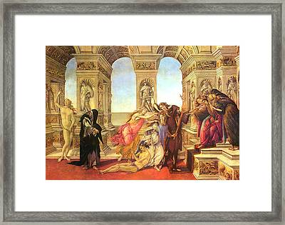 Calumny Of Apelles  Framed Print by Sandro Botticelli