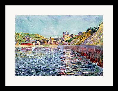 Port-en-bessin Framed Prints