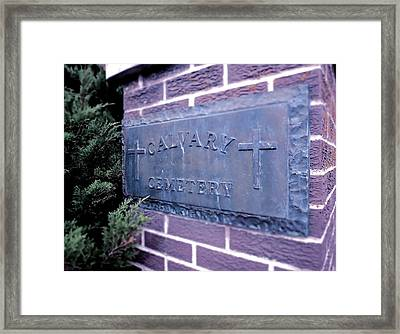 Calvary Cemetery Framed Print