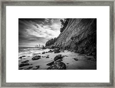 Calvert Cliffs II Framed Print by Robert Davis