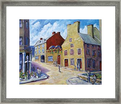 Calvet House Old Montreal Framed Print