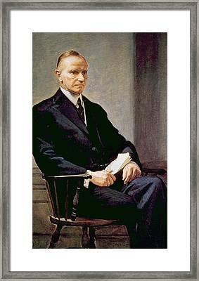 Calvin Coolidge 1872-1933, U.s Framed Print