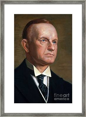 Calvin Coolidge Framed Print by Photo Researchers