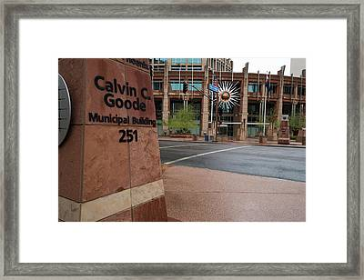 Framed Print featuring the photograph Calvin Goode Municipal Building Phoenix Az by Dave Dilli