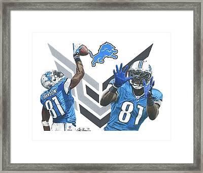 Calvin Johnson Framed Print by Chris Brown