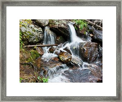 Calypso Cascades White Water Framed Print by Brent Parks