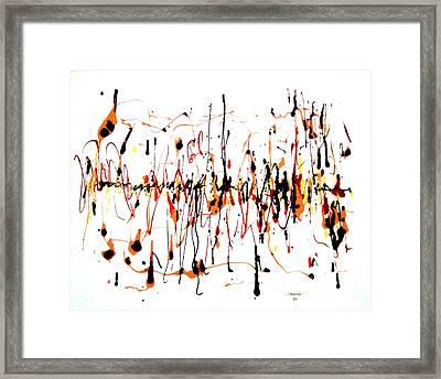 Calypso Rhythm Framed Print