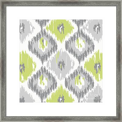Calyx Ikat Pattern Framed Print by Mindy Sommers