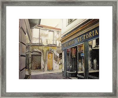 Calzados Victoria-leon Framed Print by Tomas Castano