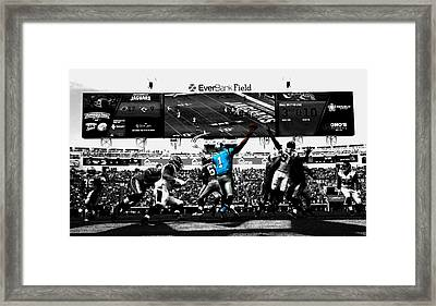 Cam Newton 2f Framed Print by Brian Reaves