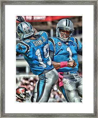 Cam Newton Art 3 Framed Print by Joe Hamilton