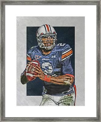 Cam Newton Auburn Tigers Art Framed Print by Joe Hamilton