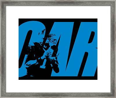Cam Newton Carolina Panthers Framed Print by Joe Hamilton