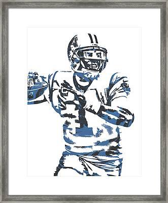 Cam Newton Carolina Panthers Pixel Art 11 Framed Print