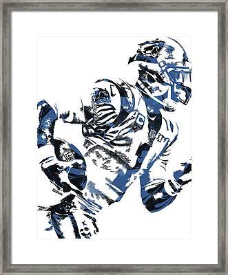 Cam Newton Carolina Panthers Pixel Art 4 Framed Print