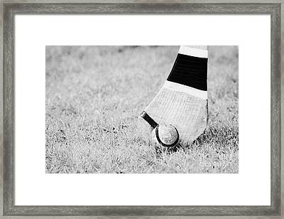Caman And Sliothar Hurling Stick And Ball Framed Print by Joe Fox