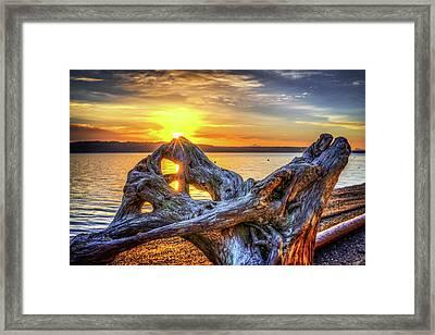 Camano Sunrise Framed Print
