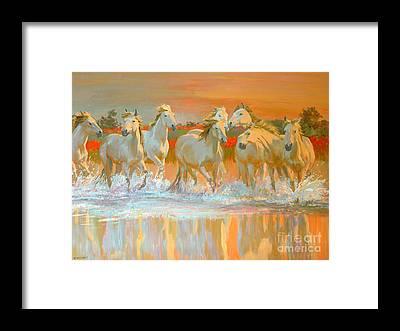 Running Horses Framed Prints