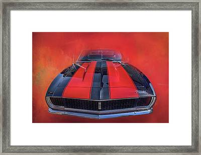 Camaro - Forged By Fire Framed Print by Theresa Tahara