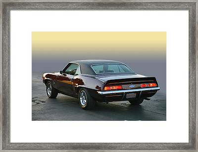 Camaro Going Framed Print by Bill Dutting