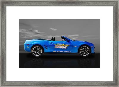 2013 Chevy Camaro Hot Wheels Pace Car  -  Cam3 Framed Print