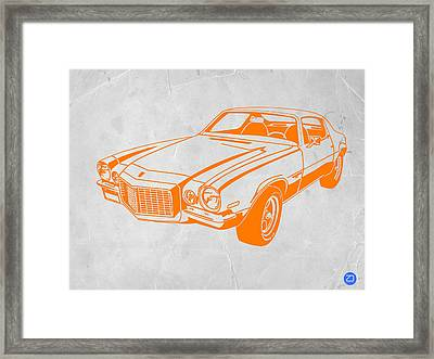 Camaro Framed Print by Naxart Studio