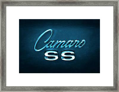 Framed Print featuring the photograph Camaro S S Emblem by Mike McGlothlen