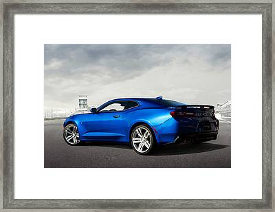 Camaro Ss Framed Print by Peter Chilelli