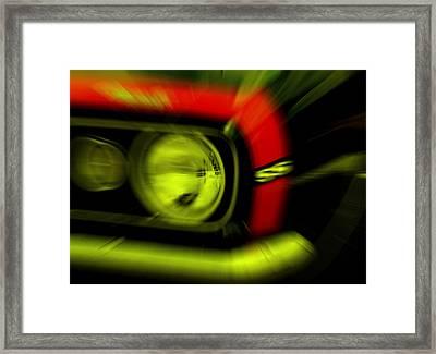 Camaro Ss Framed Print by Susanne Van Hulst