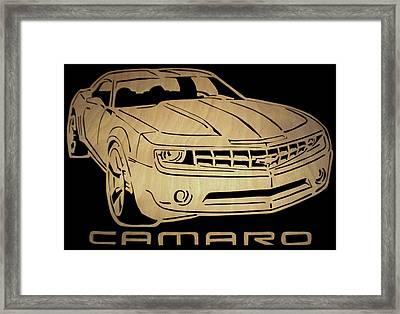 Camaro - Scrolled Framed Print by Michael Bergman