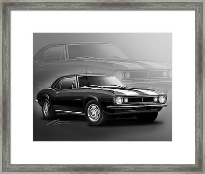 Camaro Z28 1967 Framed Print by Etienne Carignan