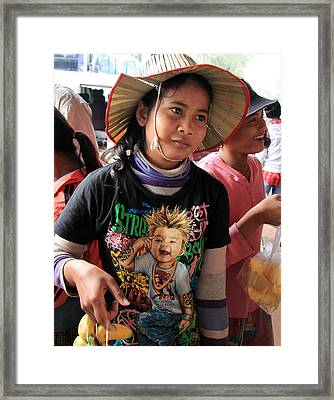 Cambodia Sales Girl Framed Print